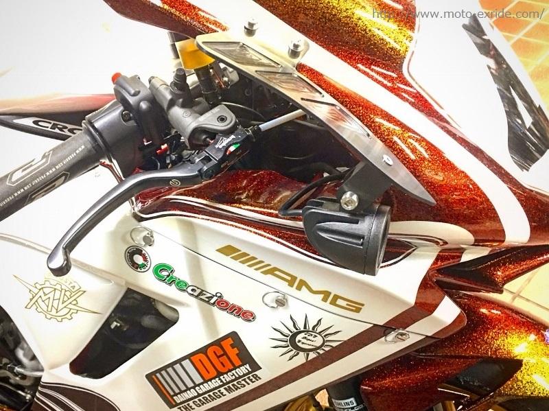 MV AGUSTA F3 ワンオフ ウイングレットカスタム 横からアップ/MOTO-EXRIDE(モトエクスライド)