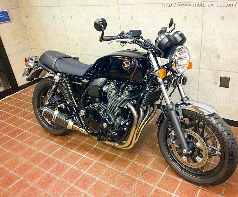 HONDA(ホンダ)CB1100 ヘリテージカフェスタイルカスタム ななめ前/MOTO-EXRIDE(モトエクスライド)