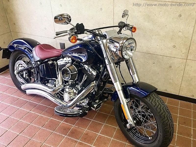 Harley-Davidson(ハーレーダビットソン) FLS カスタム ななめ前/MOTO-EXRIDE(モトエクスライド)