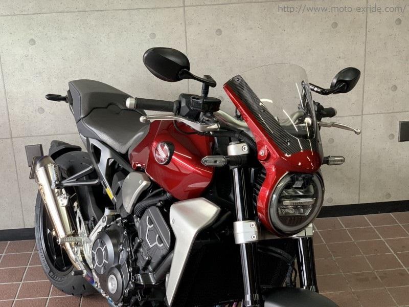 HONDA(ホンダ)CB1000R 2018モデル メーターバイザー カスタム 前から2/MOTO-EXRIDE(モトエクスライド)