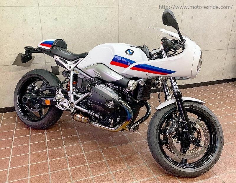 BMW RnineT Racer Matris(マトリス)リアサスペンション モトエクスライドオリジナル ダンパーカバー 取付カスタム ななめ/MOTO-EXRIDE(モトエクスライド)