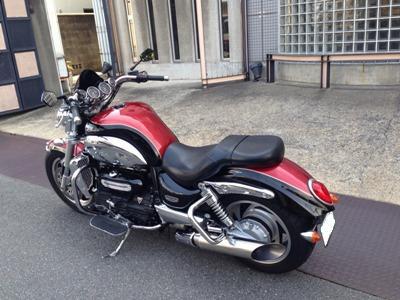TRIUMPH(トライアンフ)ROCKETⅢワンオフマフラーカスタム3/MOTO-EXRIDE(モトエクスライド)
