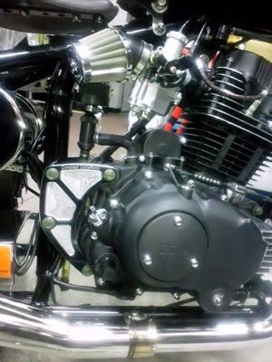 CCW Heist250用コントラストカットエンジンマウント製作、販売 取付例
