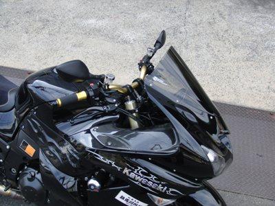KAWASAKI ZZR1400 アップハンドル化カスタム ハンドルの高さ