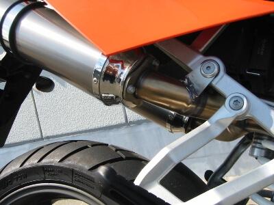 KTM 950SM ワンオフスリップオンサイレンサーカスタム サイレンサー部分