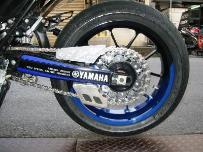 YAMAHA WR250X フルカスタム チェーンガードワンオフ製作