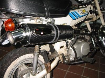 HONDA Dax(ダックス) ワンオフフルエキゾーストマフラー製作カスタム 後方横