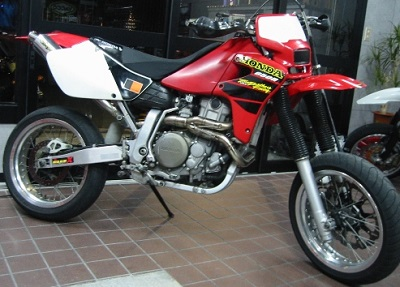 HONDA XR650R ワンオフフルエキゾーストマフラー