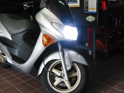 SUZUKI AVENIS150(アヴェニス150) ワンオフマフラー製作カスタム LED